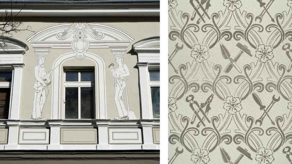 Dana Widawski · Tribute to the Architecture (detail) · 2015 · art in architecture · Berlin-Wedding