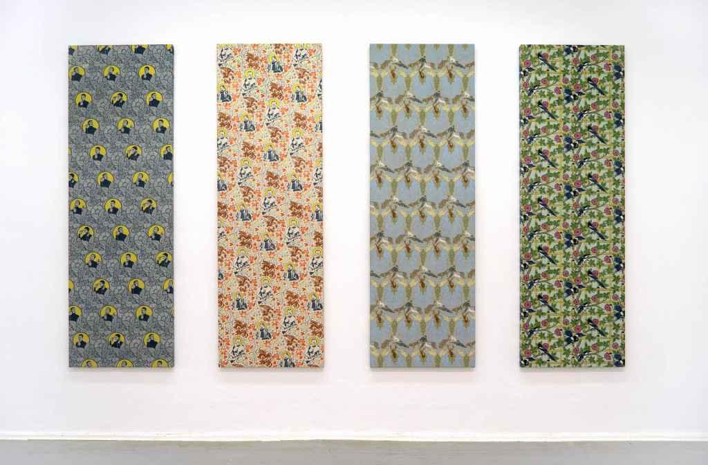 Dana Widawski · Self Made · Schablonenmalerei · Ausstellungsansicht 2016