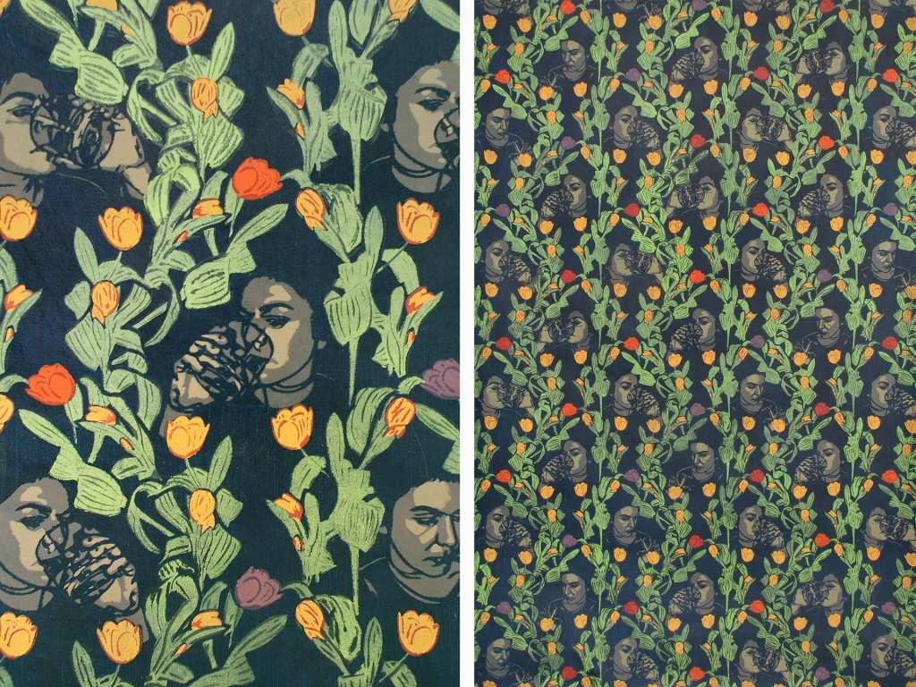 Dana Widawski · Happy Birthday · 2004/2008 · stencil painting · 100 x 150 cm