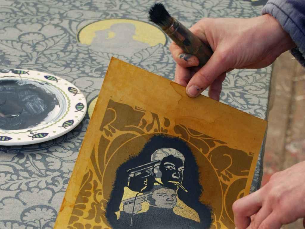 Dana Widawski · Tapetenbilder · Schablonenmalerei · in progress